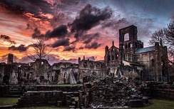 Kirkstall Abbey. Founded c. 1152