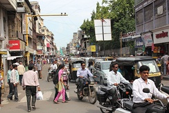 A busy street in Pune, 2012