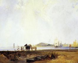 Landscape near Quilleboeuf, c. 1824–1825. Yale Center for British Art