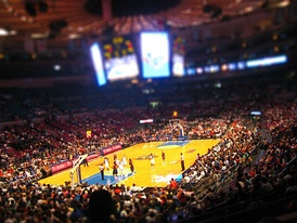 Madison Square Garden during a Liberty game.
