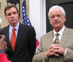 Boswell with Virginia Governor Mark Warner, 2006