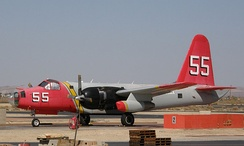 Minden Air's Tanker 55, formerly an SP-2H, at Fox Field