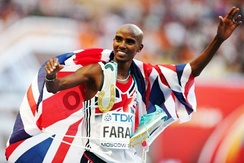Mo Farah is the most successful British track athlete in modern Olympic Games history, winning the 5000 m and 10,000 m events at two Olympic Games
