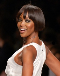 English model, actress and singer Naomi Campbell is of Afro-Chinese-Jamaican descent.