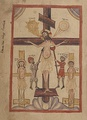 "A Nestorian ""Crucifixion of Jesus"", illustration from the Nestorian Evangelion, 16th century."