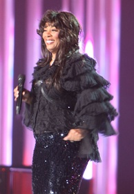 "American singer Donna Summer has been referred to as the ""Queen of Disco""."