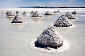 Brine from salt wells is boiled to produce salt at Bo Kluea, Nan Province, Thailand