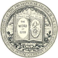 The seal of the Presbyterian Church in the United States of America, an early American Presbyterian church