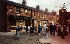 The Coronation Street set at the Granada Studios Tour