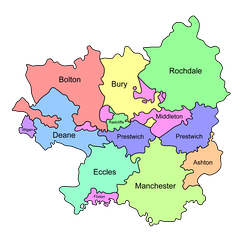 Salfordshire encompassed several parishes
