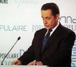 Sarkozy speaking at the congress of his party, 28 November 2004