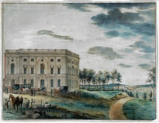 The Capitol when first occupied by Congress (painting circa 1800 by William Russell Birch)