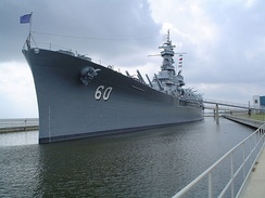 The USS Alabama at Battleship Memorial Park.