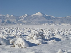 Snow on the Great Basin Desert of Nevada