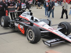 Will Power's car at the 2010 Indianapolis 500.