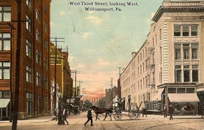 West Third Street looking west, c. 1910