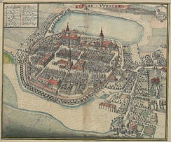 Wołów (as Wohlau) around 1750
