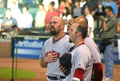 Kevin Youkilis (left; 2007 AL Gold Glove winner)
