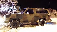 1984 M1009 CUCV in the snow