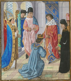 Richard surrendering the crown to Henry