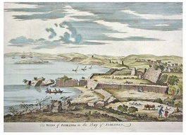 Ruins of Algeciras in an eighteenth-century engraving.
