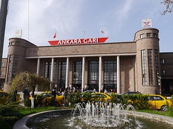 Ankara railway station is a hub for conventional trains.