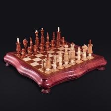 Точная копия старинных английских шахмат XIX век, стиль «Барлейкорн»