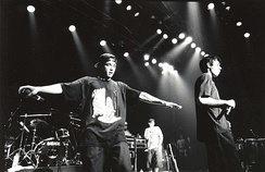 New York-based hip hop group Beastie Boys are considered highly influential within the rap rock genre.