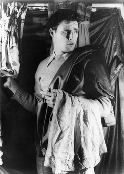 A 24-year-old Marlon Brando on the set of the Broadway production of A Streetcar Named Desire, 1948.