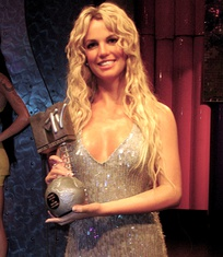 Wax statue of Spears at Madame Tussauds in London