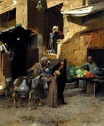 Inside the Souk, Cairo by Charles Wilda, 1892