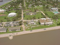 Overview of damage in Palacios