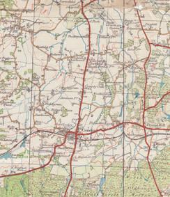Ordnance Survey map of the Crawley area, 1932
