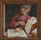 Dante Alighieri (top) and Petrarch (bottom) were influential in establishing their Tuscan dialect as the most prominent literary language in all of Italy in the Late Middle Ages.