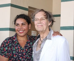 Deborah Mailman[5] (left) voices Blinky's mother, and Barry Otto[6] (right) voices Mayor Cranklepot.