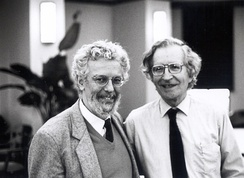 Chomsky and Enrique Dussel, who left Argentina in reaction to the U.S.-backed Dirty War in the 1970s and 1980s