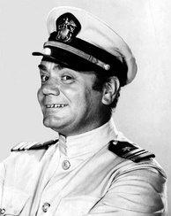 Publicity photo of Borgnine as Lieutenant Commander Quinton McHale from McHale's Navy in 1963