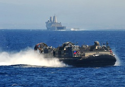 A United States Naval Landing Craft Air Cushion in the Pacific Ocean (2012)