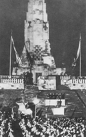 Founding ceremony of the Hakkō ichiu (All the world under one roof) monument in 1940