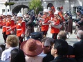 Royal Gibraltar Regiment Band along with pipers from the London Regiment perform at the Ceremony of the Keys.