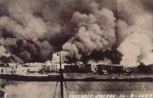 The Great Fire of Smyrna as seen from an Italian ship, 14 September 1922