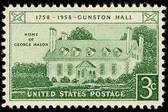 Gunston Hall postage stamp, 1958 issue