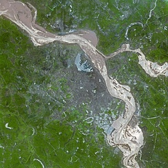 Satellite view of Hanoi