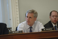Representative Kevin McCarthy (R) at an oversight hearing of the House Natural Resources Subcommittee on Water and Power.