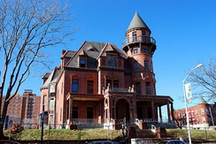 The Krueger-Scott Mansion, owned by African-American beauty entrepreneur Louise Scott, Newark's first female millionaire