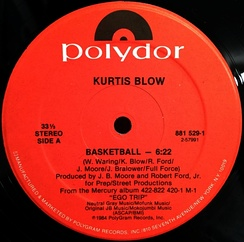 "Kurtis Blow's 1984 hit single ""Basketball"", which charted the Billboard Hot 100 [4], paid homage to the top athletes in the National Basketball Association"