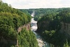 The gorge and Middle Falls at Letchworth State Park.