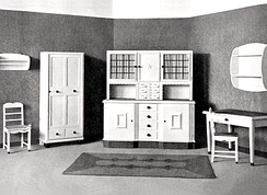 A kitchen produced by the German Kitchen company Poggenpohl in 1892