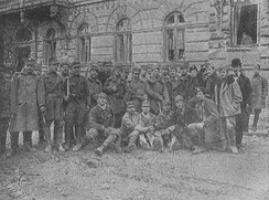 Polish and Ukrainian soldiers in Lviv (Lwów) during a ceasefire, 1918
