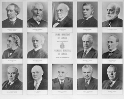 Canada's Prime Ministers from 1867 to 1963. The Prime Minister of Canada serves as the head of government.